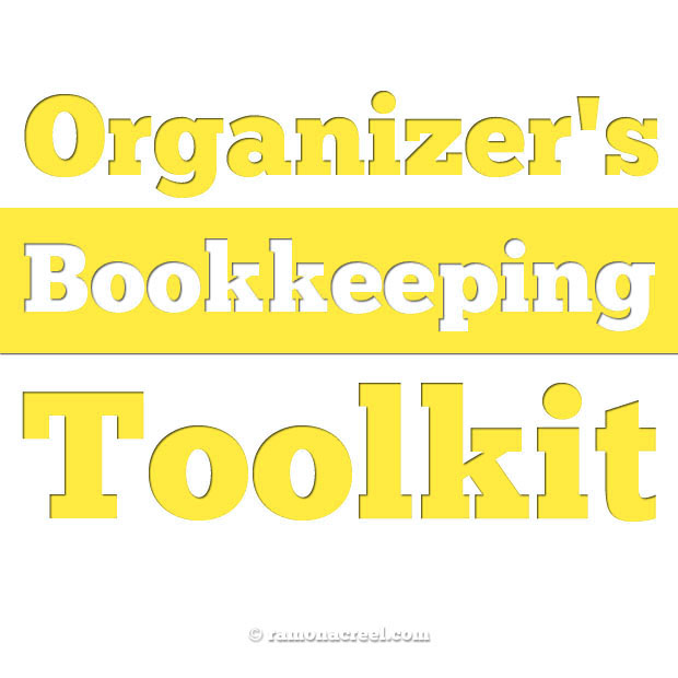 Professional Organizer S Bookkeeping Toolkit Ramonacreel Com